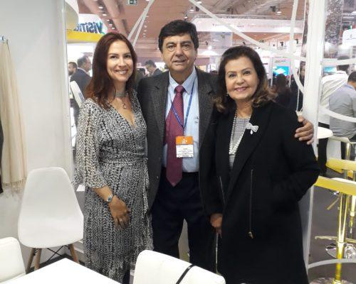 Luciana Delamare, Diretora de Planejamento e Projetos da TurisRio, Liberato Pinto, Diretor de Turismo da Neltur e Tetê Bezerra, Presidente da Embratur.